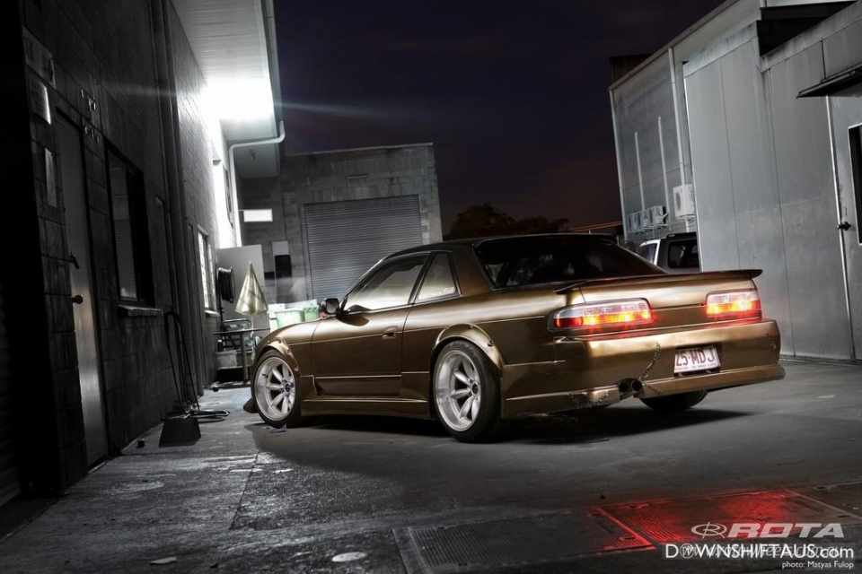 Crazy flared S13 custom painted black/bronze main image